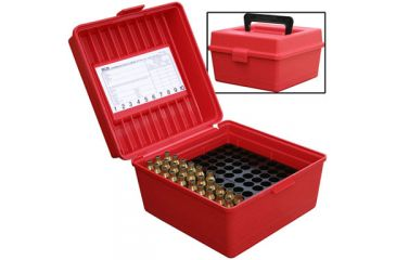 MTM Deluxe Ammo Box 100 Round Handle 22-250 To 458 Win R-100-30