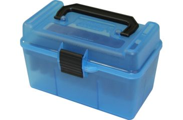 1-MTM H50 Ammunition Box .22-250 to .308 Winchester Blue H50-RM-24