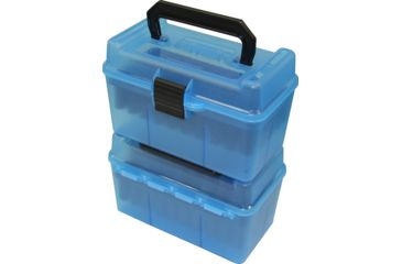 2-MTM H50 Ammunition Box .22-250 to .308 Winchester Blue H50-RM-24