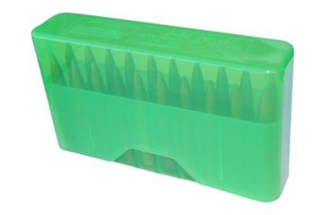 1-MTM J-20 Slip-Top Boxes .17/.223/.222 Magnum Clear Green J-20-XS-16