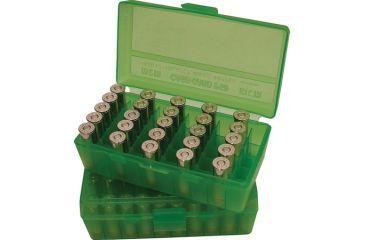 MTM P50 Fliptop Box Handgun .44 Magnum/44 Special/.41 Magnum/.45 Colt Clear Green