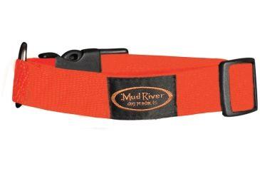 Mud River Bootlegger Nylon Collar, L/XL Blaze Orange 20in.- 26in. 18423