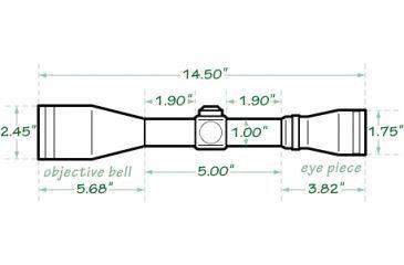 Mueller Optics 4-16x50mm AO Sport Dot Riflescope MU41650IGR Dimensions