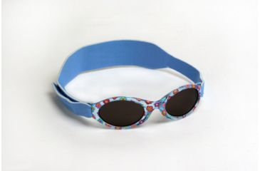 Real Kids Shades 0-24 Months My First Shades Sunglasses - Blue Confetti Flowers Shades w/ Adjustable Band 024BLUFLOWR