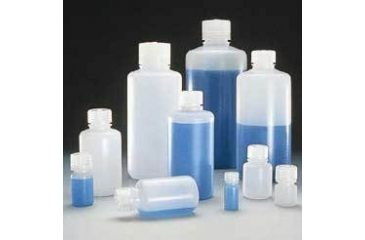 Nalge Nunc Boston Round Bottles, HDPE, Narrow Mouth, NALGENE 312002-0002