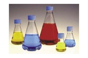 Nalge Nunc Disposable Erlenmeyer Flasks with Vented Closure, PETG, Sterile, NALGENE 4115-1000 Plain Bottom Flasks