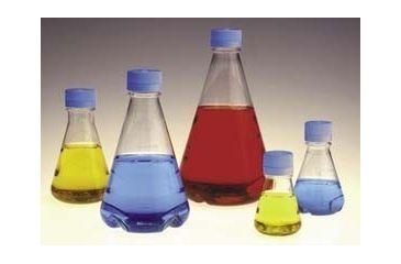 Nalge Nunc Disposable Erlenmeyer Flasks with Vented Closure, PETG, Sterile, NALGENE 4115-0500 Plain Bottom Flasks