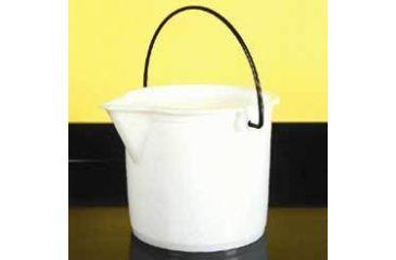 Nalge Nunc Graduated Bucket, White High-Density Polyethylene, NALGENE 7002-0025 Bucket Pe W/SPOUT 2 1/2GAL