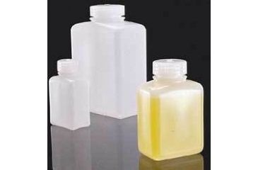 Nalge Nunc Rectangular Bottles, High-Density Polyethylene, Wide Mouth, NALGENE 2007-0032 Translucent