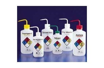 Nalge Nunc Right-To-Know Safety Wash Bottles, NALGENE 2425-0501 500 Ml Size, 28 Mm Closures