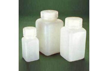 Nalge Nunc Square Bottles, High-Density Polyethylene, Wide Mouth, NALGENE 2114-0008