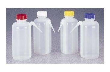 Nalge Nunc Unitary Color-Coded Wash Bottles, Low-Density Polyethylene, NALGENE 2423-0500 Wash Btl Unitary Asst Ldpe 4PK