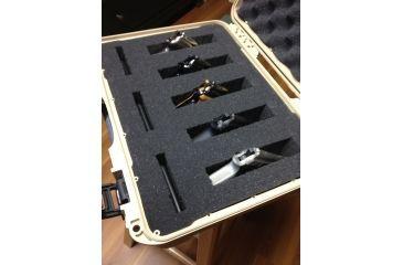 Nanuk 910 Hard Plastic Waterproof Case, Tan w/ 3 Part Foam Insert 910-1000