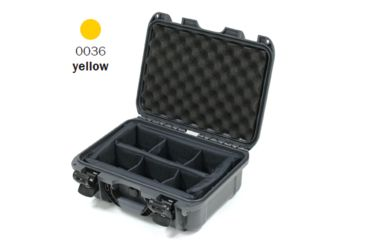 Nanuk 915 Case, Open, Yellow w/ Padded Divider