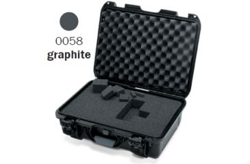 Nanuk 925 Case, Open, Graphite w/Cubed Foam