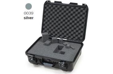 Nanuk 930 Case, Open, Silver w/Cubed Foam