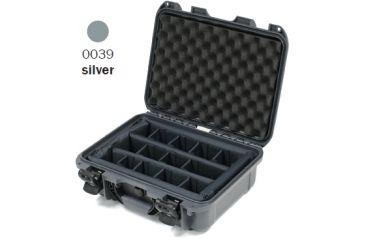 Nanuk 930 Case, Open, Silver w/ Padded Divider