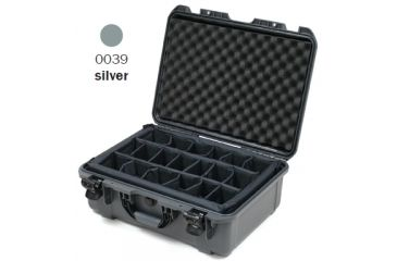 Nanuk 940 Case, Open, Silver w/ Padded Divider