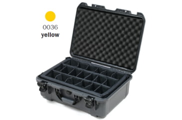 Nanuk 940 Case, Open, Yellow w/ Padded Divider