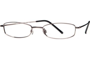 National NA0017 Eyeglass Frames - Shiny Gun Metal Frame Color