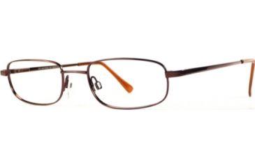 National NA0028 Eyeglass Frames - Shiny Dark Brown Frame Color