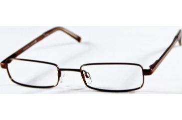 National NA0099 Eyeglass Frames - Shiny Dark Brown Frame Color