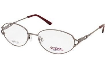 National NA0239 Eyeglass Frames - Shiny Gun Metal Frame Color