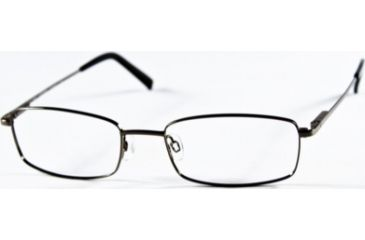 National NA0240 Eyeglass Frames - Shiny Gun Metal Frame Color