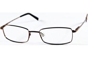 National NA0240 Eyeglass Frames - Shiny Dark Brown Frame Color