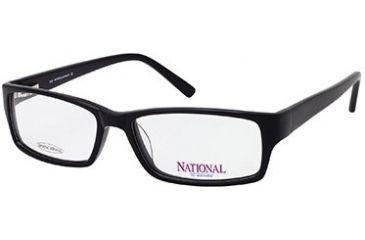 National NA0300 Eyeglass Frames - Shiny Black Frame Color