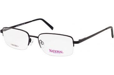 National NA0302 Eyeglass Frames - Matte Black Frame Color