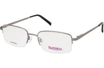 National NA0302 Eyeglass Frames - Shiny Gun Metal Frame Color