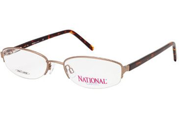 National NA0308 Eyeglass Frames - Shiny Dark Brown Frame Color