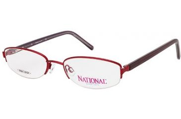 National NA0308 Eyeglass Frames - Shiny Bordeaux Frame Color