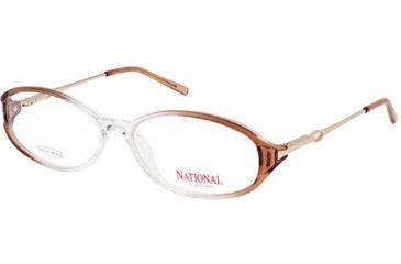 National NA0310 Eyeglass Frames - Shiny Light Brown Frame Color