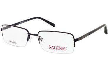 National NA0313 Eyeglass Frames - Matte Black Frame Color