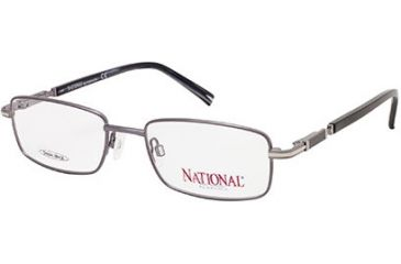 National NA0314 Eyeglass Frames - Shiny Gun Metal Frame Color