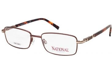 National NA0314 Eyeglass Frames - Shiny Dark Brown Frame Color
