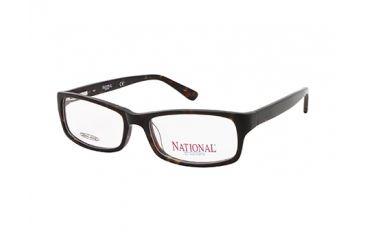 National NA0317 Eyeglass Frames - Dark Havana Frame Color
