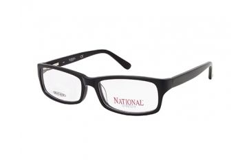 National NA0317 Eyeglass Frames - Shiny Black Frame Color