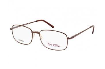 National NA0319 Eyeglass Frames - Shiny Dark Brown Frame Color
