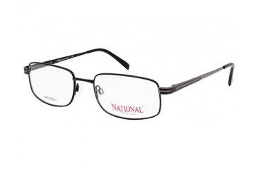 National NA0322 Eyeglass Frames - Matte Black Frame Color