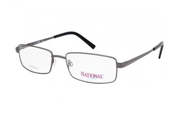 National NA0323 Eyeglass Frames - Shiny Gun Metal Frame Color