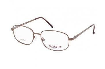 National NA0328 Eyeglass Frames - Shiny Light Brown Frame Color