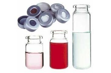 National Scientific Headspace Crimp-Top Vials, National Scientific C4020-34A Aluminum Seals Ivory PTFE/Red Rubber