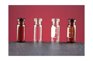 National Scientific Wide Opening Crimp-Top Vials, National Scientific C4011-S1W Clear Vials Deactivated Target I-D Vials, Silanized
