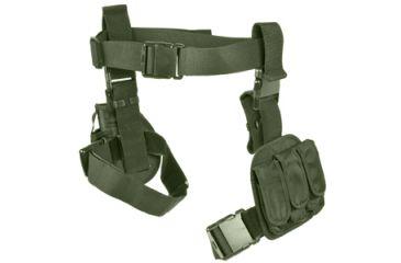 Ncstar 3pcs Drop Leg Gun Holster And Magazine Holder Green Cv2908g