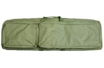NcStar Double Rifle Case w/ PALS Webbing, Pistols Compartment - Green CVDR2914G