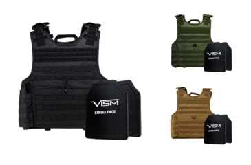 1-NcSTAR Expert Carrier Vest w/Two 10x12in Shooters Cut Hard PE Ballistic Panels