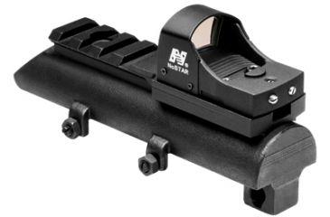4-NcSTAR Green Micro Dot Mount & Rail SKS Combo
